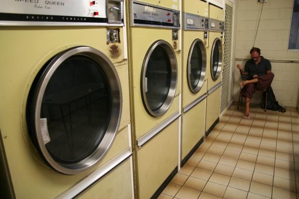 W przerwie na pranie - praca nad blogiem.
