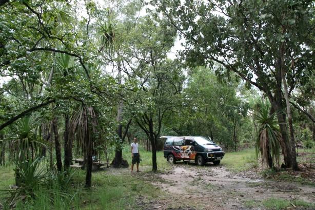 Nocleg w Parku Narodowym Kakadu.