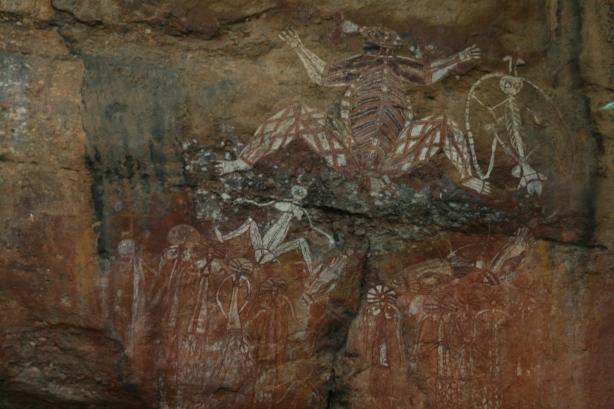 Aborygeńskie malowidła skalne.