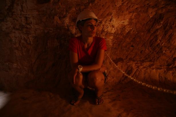 W kopalni opalu.