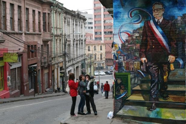Uliczny portret Salvadora Allende.