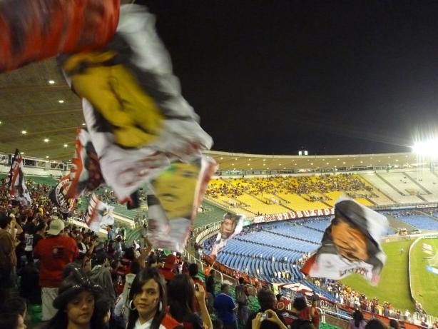 Mecz pomiędzy Flamengo a Goiais.