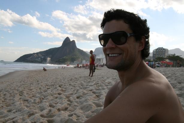 Nuno na Praia Ipanema.