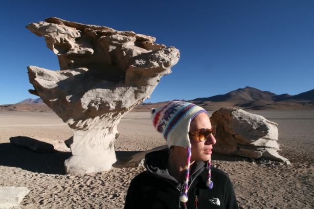 Arbol de Piedra to podobno najbardziej fotogeniczna skała na Salares de Uyuni.