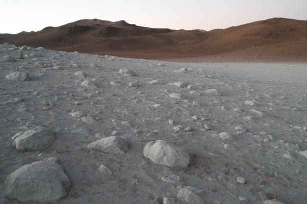Zdjęcie wykonane przez Mars Polar Lander.