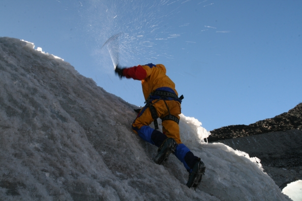 Praktyka na lodowcu. W górę..