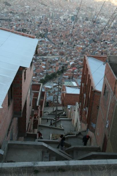 Górne dzielnice La Paz.