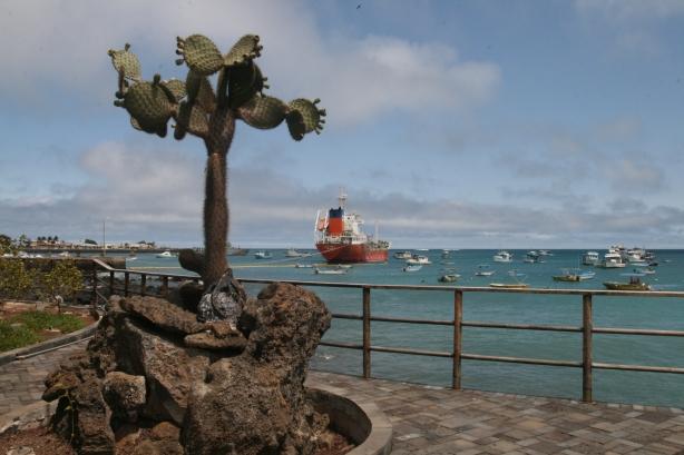 Puerto Baquerizo Moreno. Stolica Galapagos.