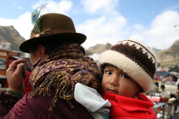 Mieszkańcy ekwadorskiej części Andów.