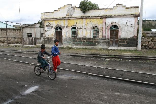 Palmira, ostatnia stacja autobusu na szynach.