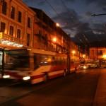 Quito by night. Plaza Santo Domingo.