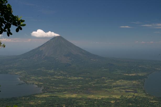 Widok ze szczytu wulkanu Maderas, po czterogodzinnej wspinaczce.