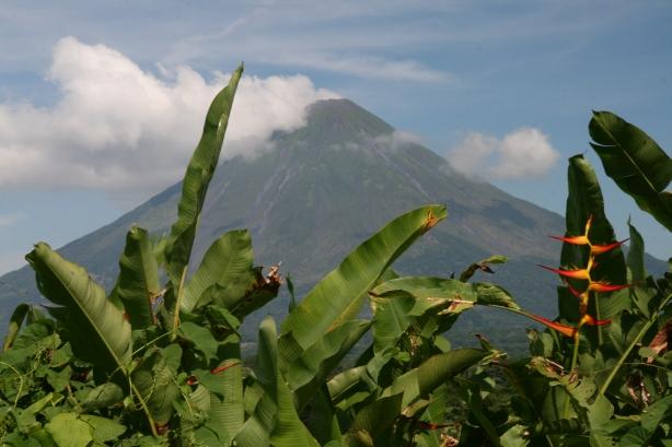Wulkan Concepción, jeden z dwóch górujących nad wyspą Ometepe, położonej na środku Jeziora Nikaragua.