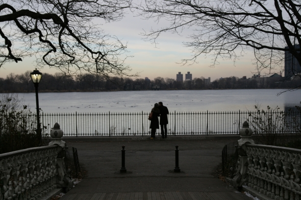 Central Park zimą.